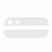 Vitre arrière haut et bas blanc pour iPhone 5