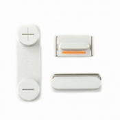 Bouton blanc Volume+Vibreur+Power pour iPhone 5